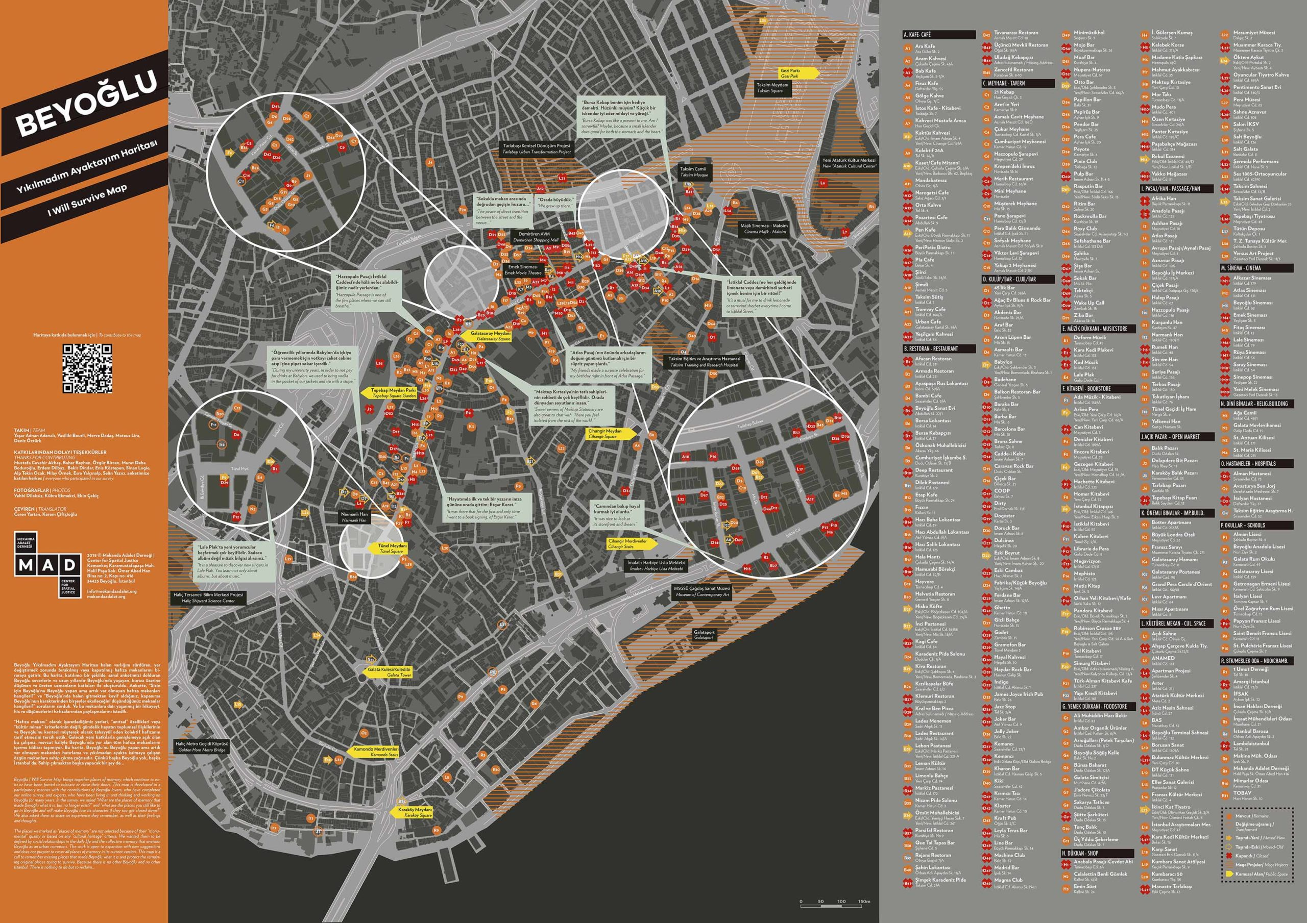 Beyoglu, I Will Survive! A map of collective memory in the context of radical urban transformations in Istanbul